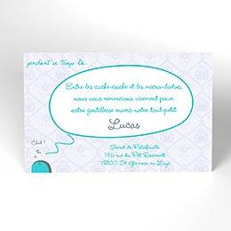 Carte de Remerciement Naissance Cachette secrète
