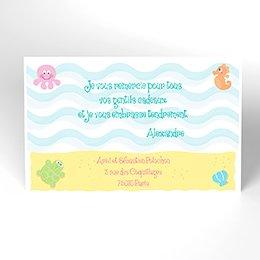 Carte de Remerciement Naissance Sous l'Océan
