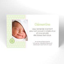Carte de Remerciement Naissance Guimauve