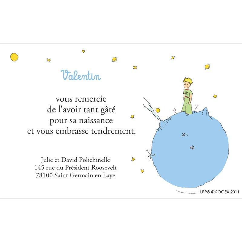 Carte de Remerciement Naissance Le Petit Prince 1 pas cher