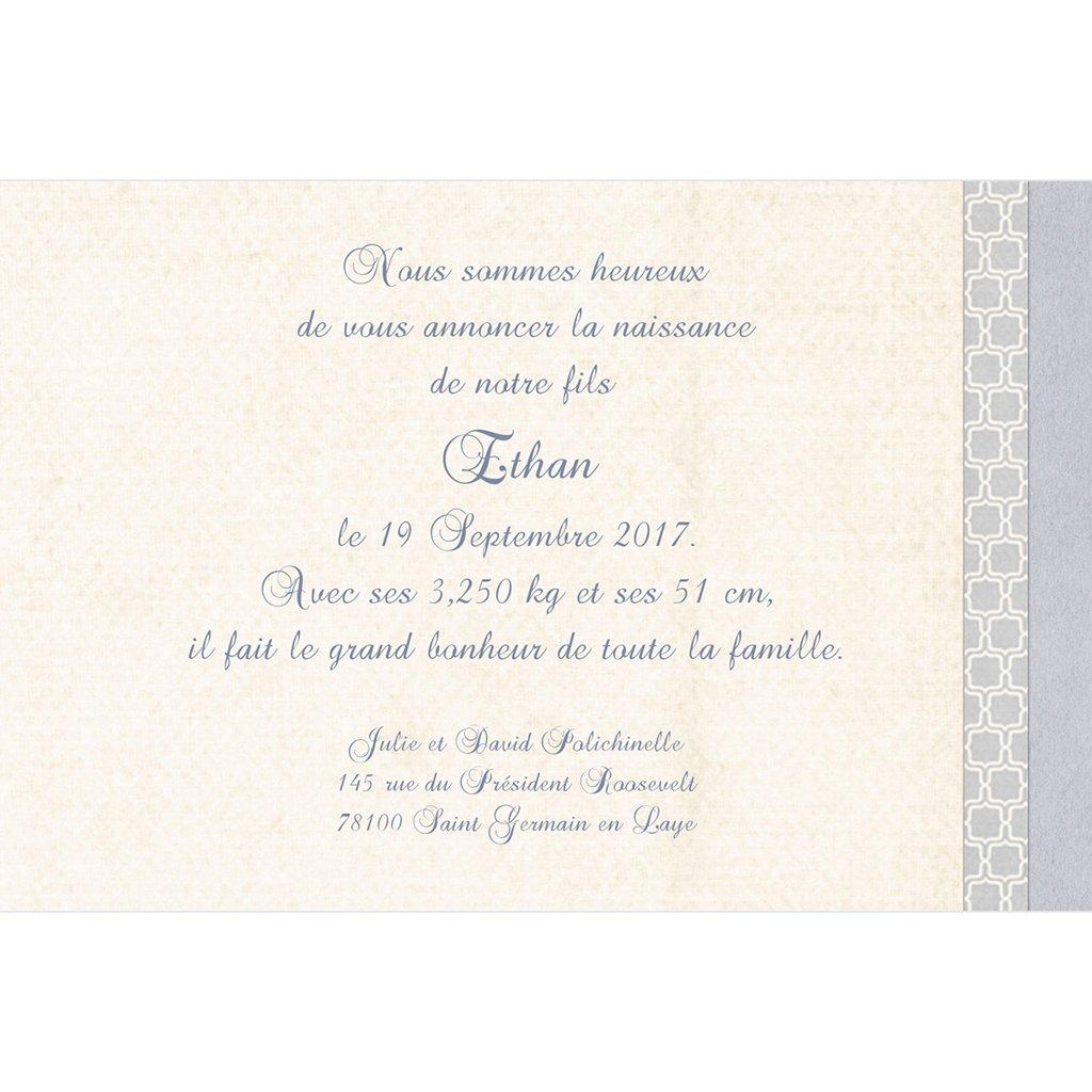 Faire-part de Naissance Macaron bleu