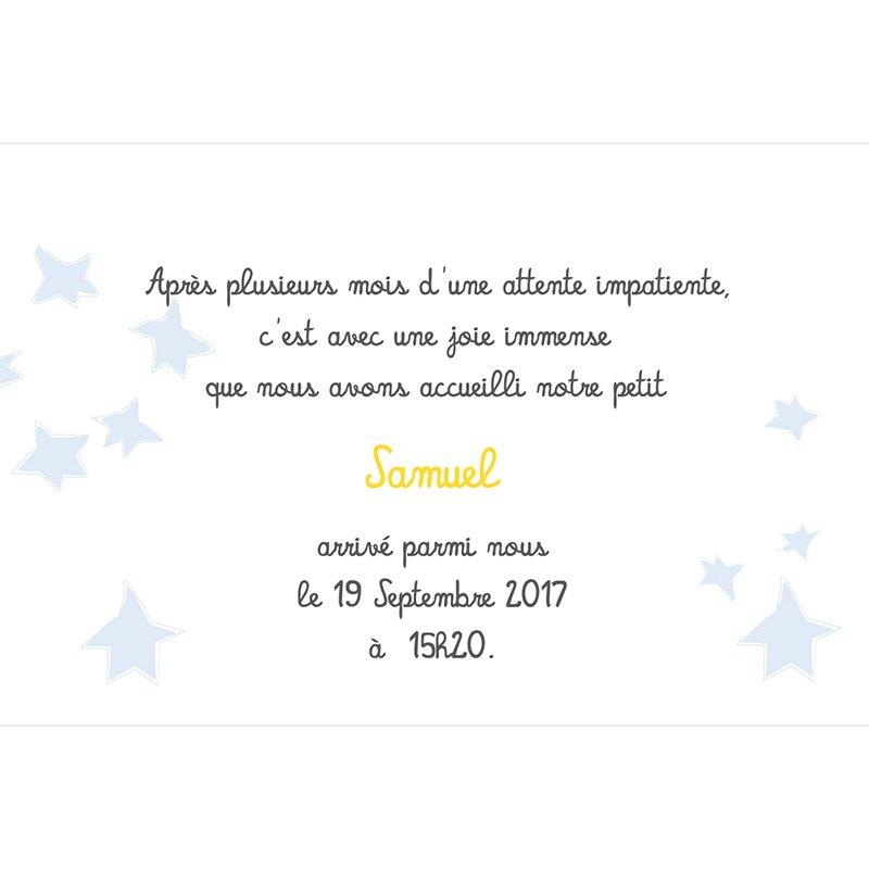 Faire-part de Naissance Le Petit Prince 7