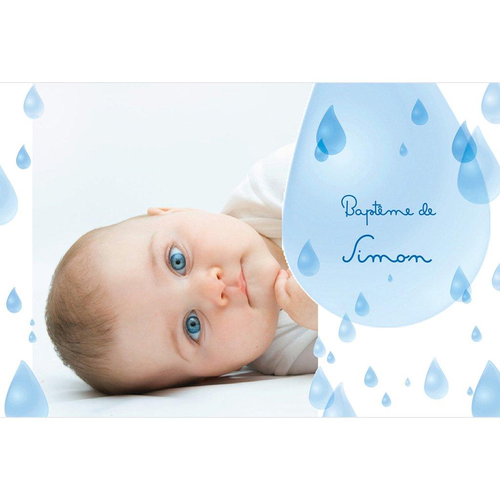 Faire-part de Baptême Jour de Soleil pas cher