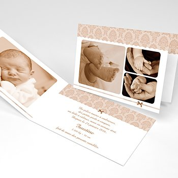 Faire-part de Naissance Baroque Photos original
