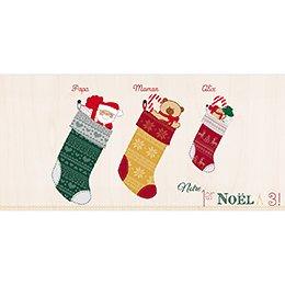 Faire-part de Naissance Chaussette de Noël