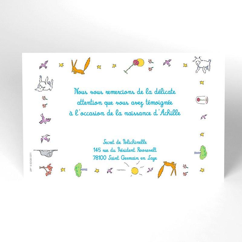 Carte de Remerciement Naissance Le Petit Prince 13