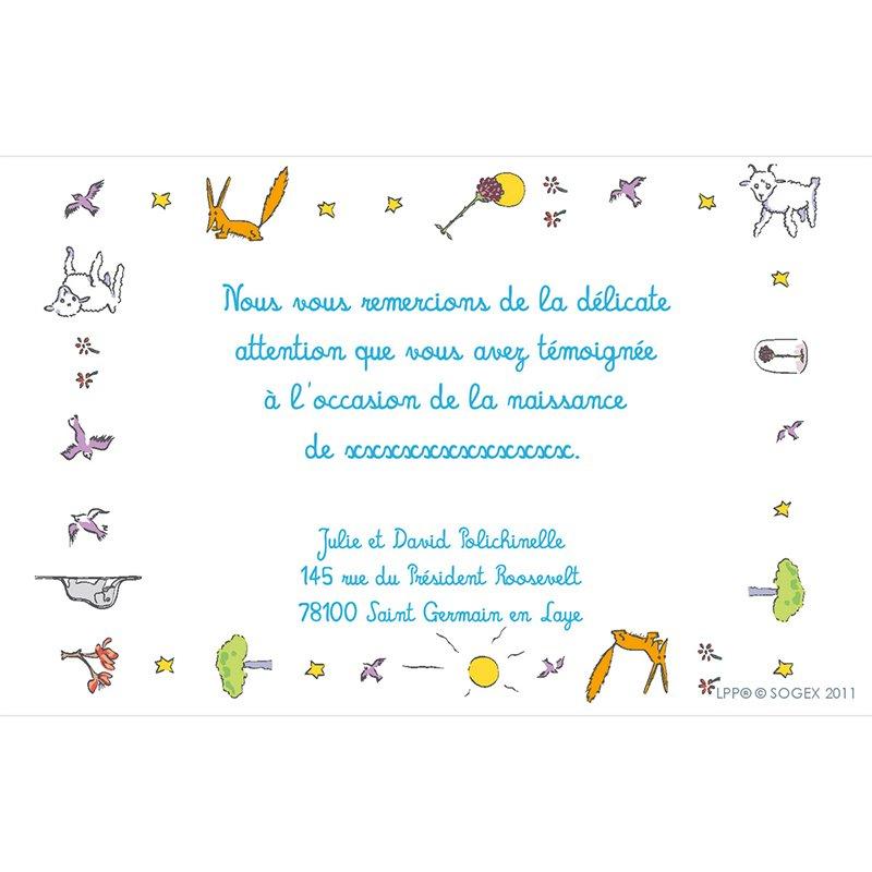 Carte de Remerciement Naissance Le Petit Prince 13 pas cher