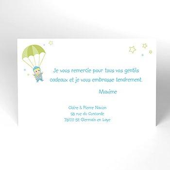 Carte de Remerciement Naissance Petit Avion