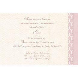 Faire-part de Naissance Macaron rose