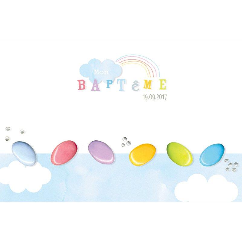 Faire-part de Baptême Baptême Sucré pas cher