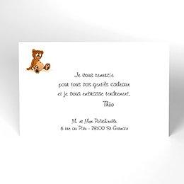 Carte de Remerciement Naissance Roller grand frère bébé garçon