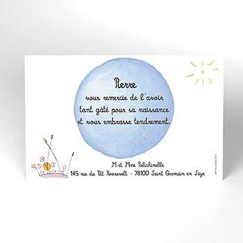 Carte de Remerciement Naissance Le Petit Prince 8 original