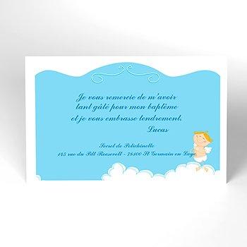 Carte de Remerciement Baptême Petit Ange pas cher