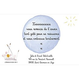 Carte de Remerciement Naissance Le Petit Prince 8 pas cher