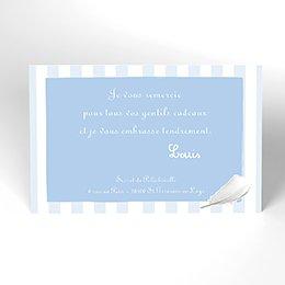 Carte de Remerciement Baptême Cosy bleu Baptême