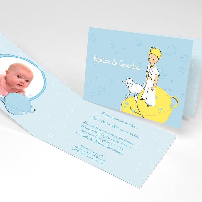 Faire-part de Baptême Le Petit Prince 10 Baptême
