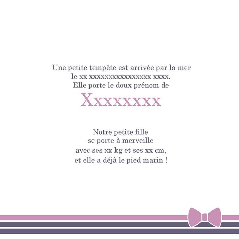 Faire-part de Naissance Petite Marinette