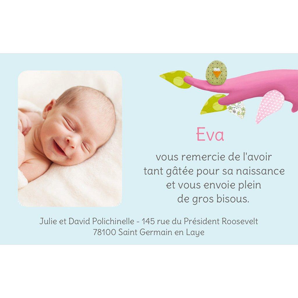 Carte de Remerciement Naissance Famille Pioupiou pas cher