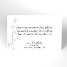 Carte de Remerciement Naissance Capucine