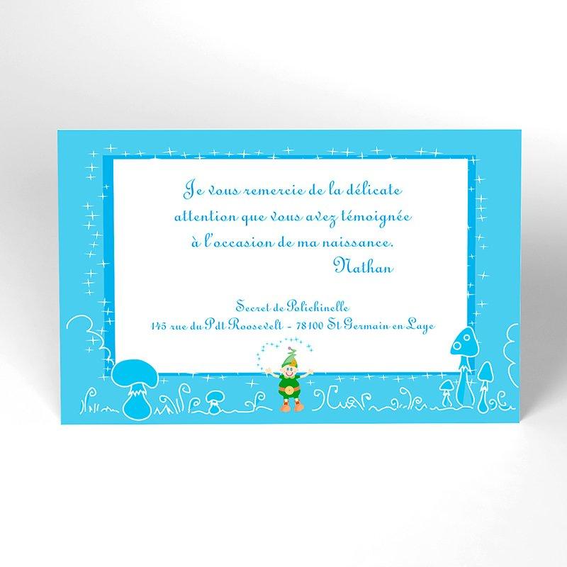 Carte de Remerciement Naissance Les 3 Lutins