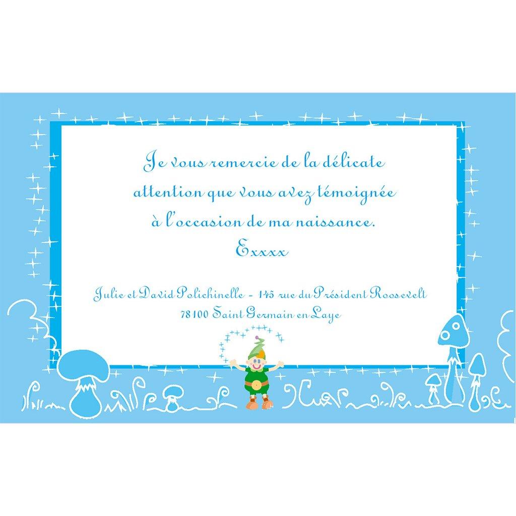 Carte de Remerciement Naissance Les 3 Lutins pas cher