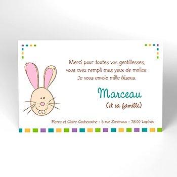 Carte de Remerciement Naissance Cache-Cache original