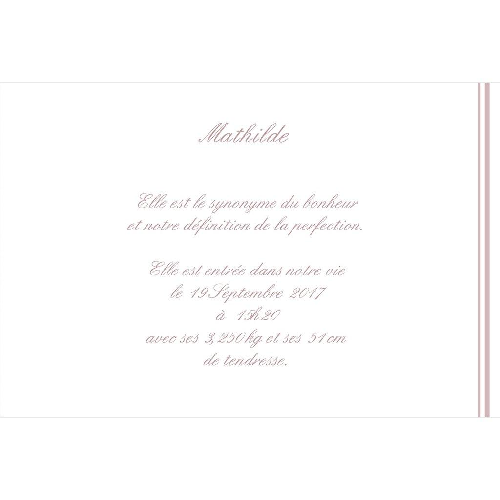 Faire-part de Naissance Petit Versailles Rose