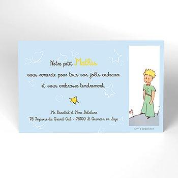 Carte de Remerciement Baptême Le Petit Prince7 baptême personnalisé