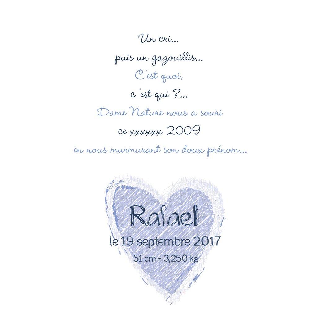 Faire-part de Naissance Jardin Secret bleu gratuit