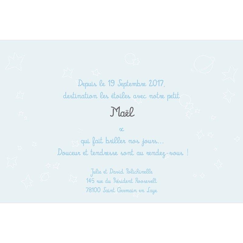 Faire-part de Naissance Le Petit Prince 10