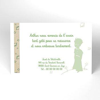 Carte de Remerciement Naissance Le Petit Prince 11 personnalisé