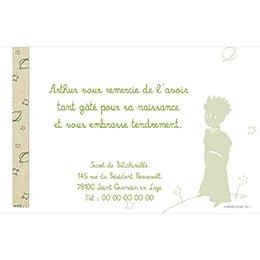 Carte de Remerciement Naissance Le Petit Prince 11 pas cher