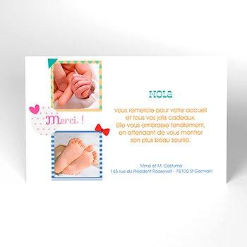 Carte de Remerciement Naissance Métier Mignon