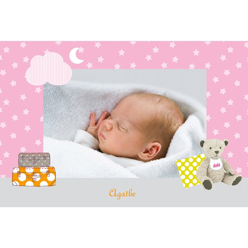 Faire-part de Naissance Baby room rose gratuit