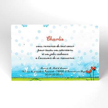 Carte de Remerciement Naissance Miel d'Amour personnalisé