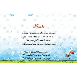 Carte de Remerciement Naissance Miel d'Amour pas cher