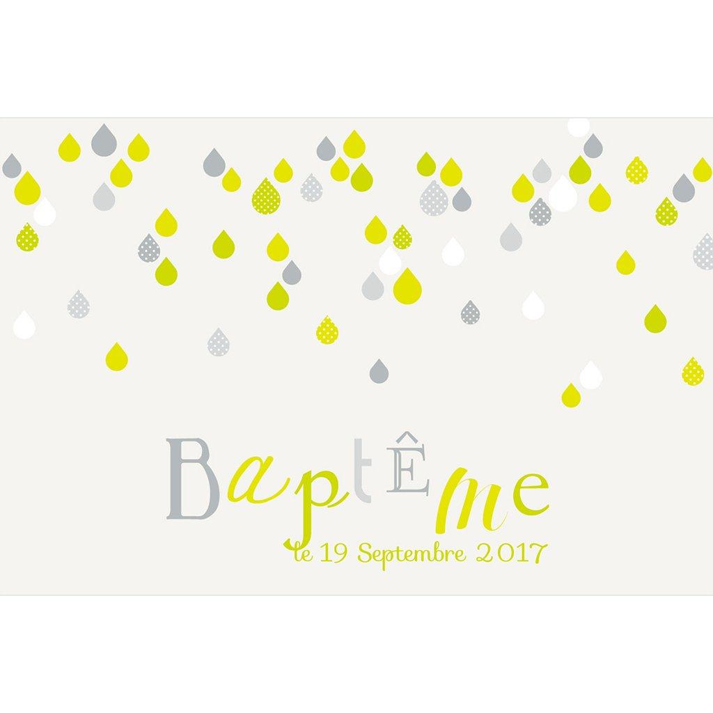 Faire-part de Baptême Gouttelette pas cher