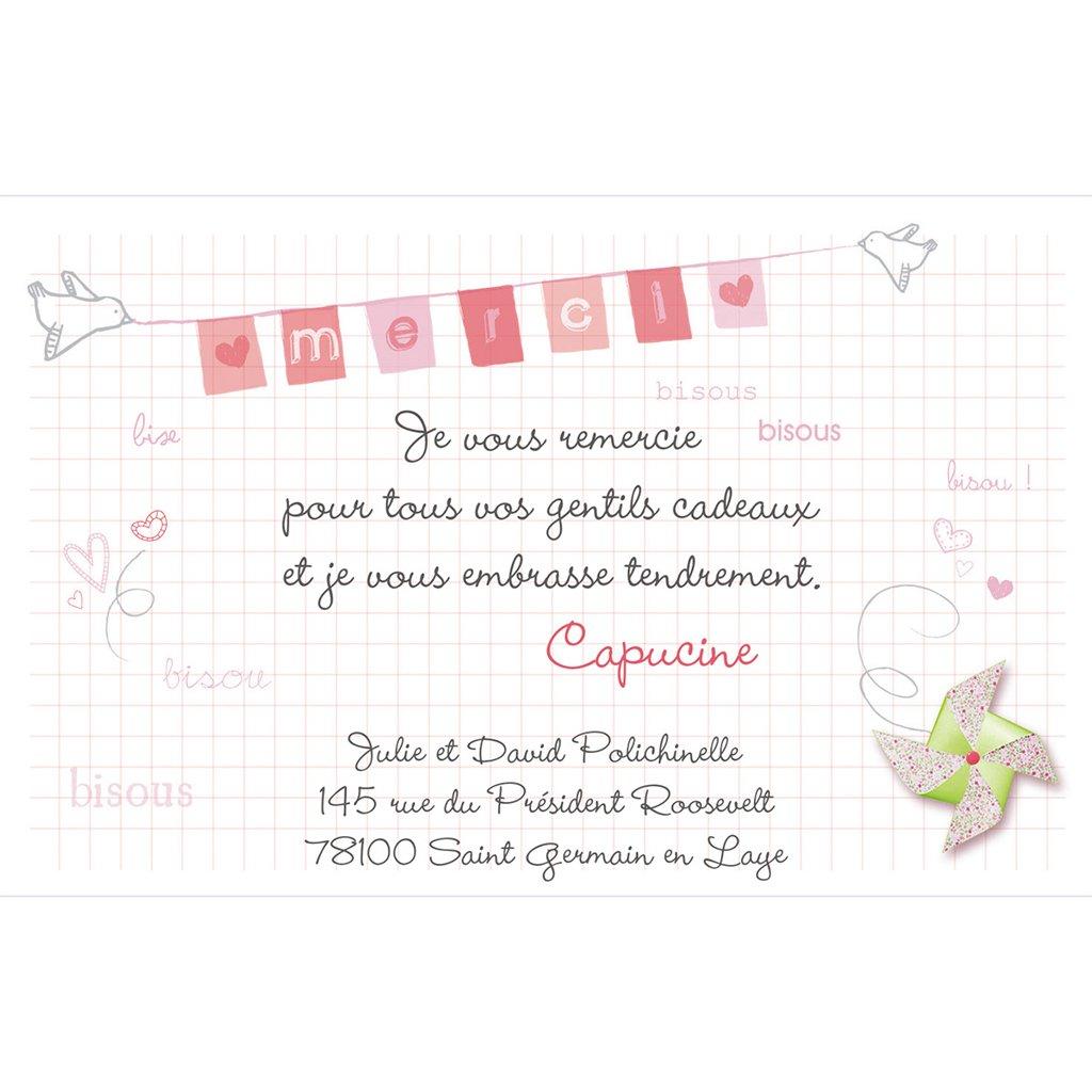 Carte de Remerciement Naissance Petit moulin pas cher