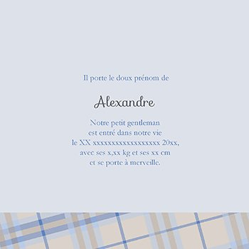 Faire-part de Naissance Petit Gentleman personnalisé
