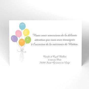 Carte de Remerciement Naissance Lovely original