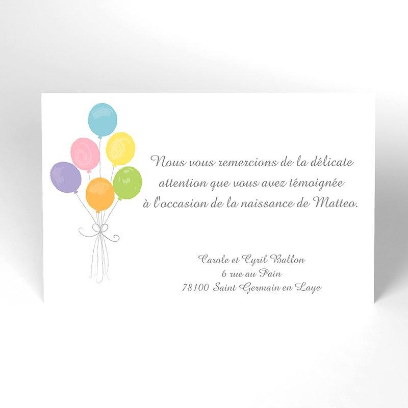 Carte de Remerciement Naissance Lovely