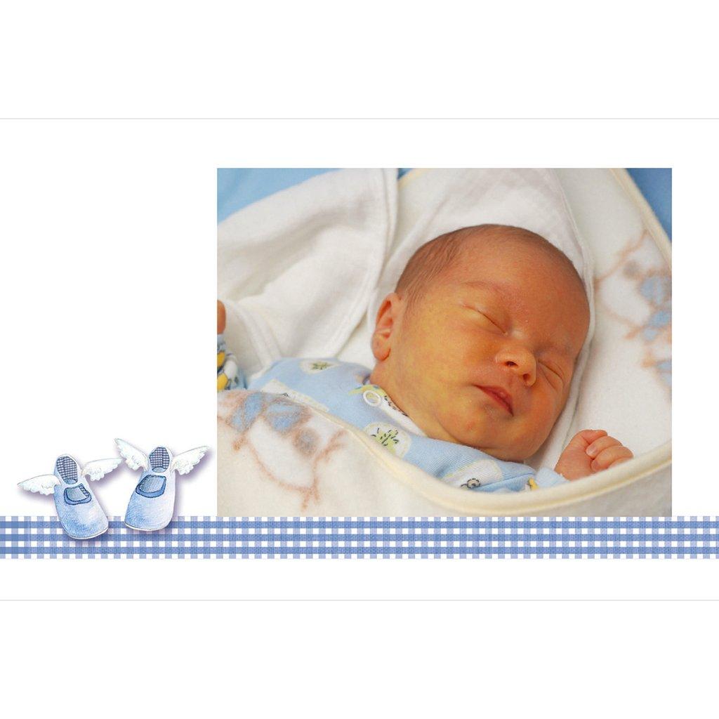 Faire-part de Baptême Petits Chaussons gratuit