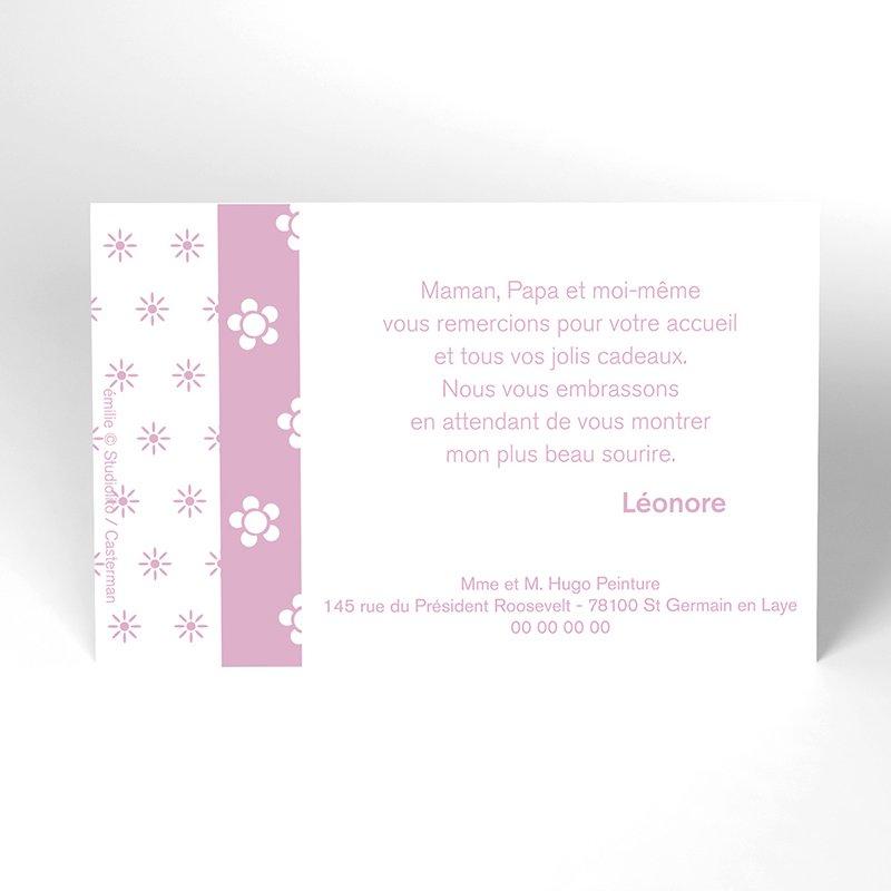 Carte de Remerciement Naissance émilie 15