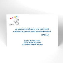 Carte de Remerciement Naissance Artiste