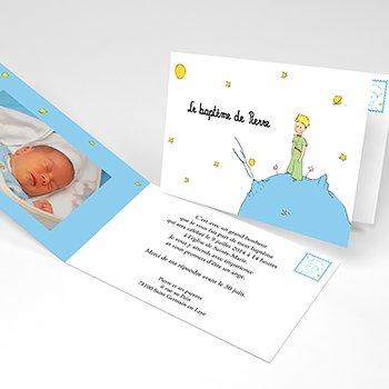 Faire-part de Baptême Le Petit Prince 1 baptême personnalisé