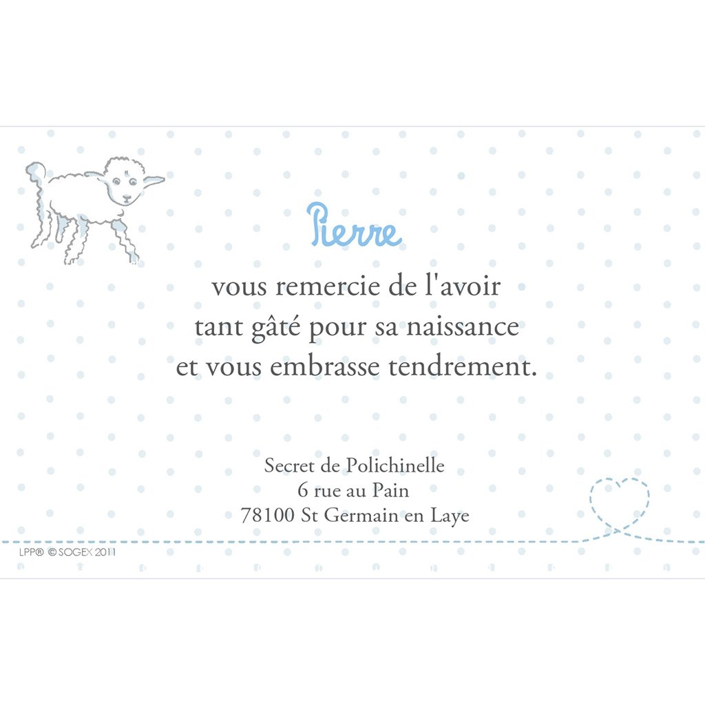 Carte de Remerciement Naissance Le Petit Prince 3 pas cher
