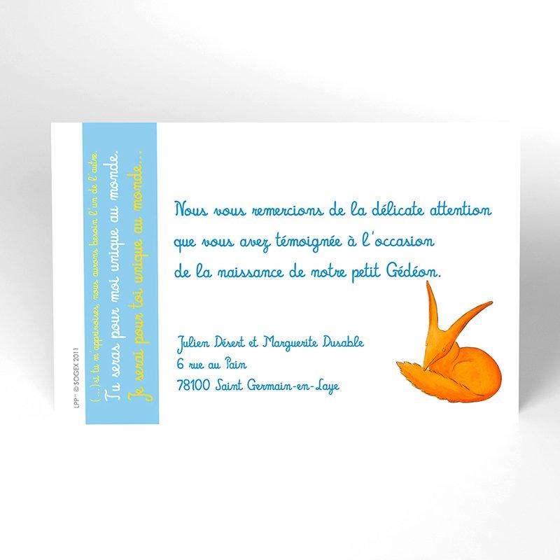 Carte de Remerciement Naissance Le Petit Prince 4