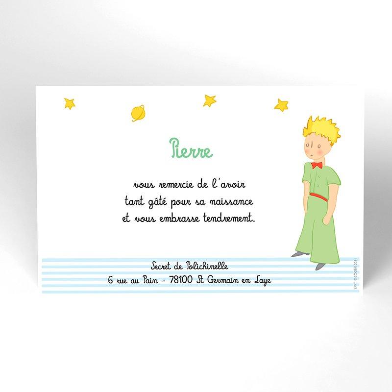 Carte de Remerciement Naissance Le Petit Prince 6