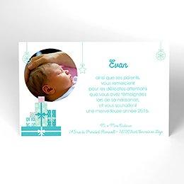 Carte de Remerciement Naissance Tendre Présent