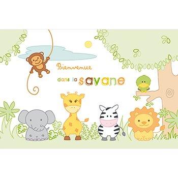 Faire-part de Naissance La Savane original